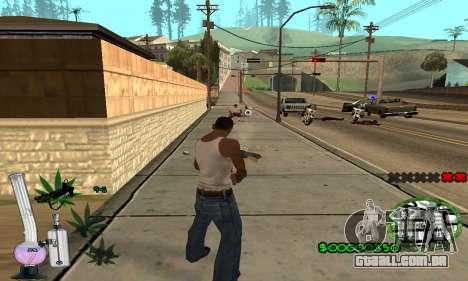 C-HUD Canabis para GTA San Andreas por diante tela