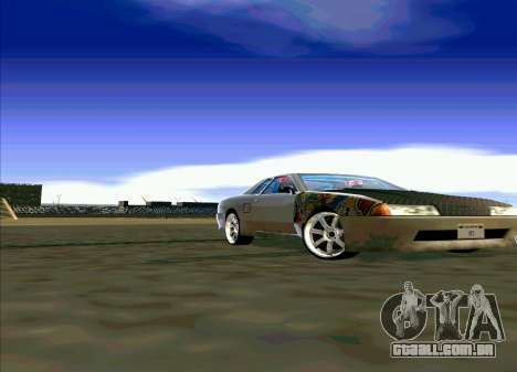 Elegy Restyle para GTA San Andreas traseira esquerda vista