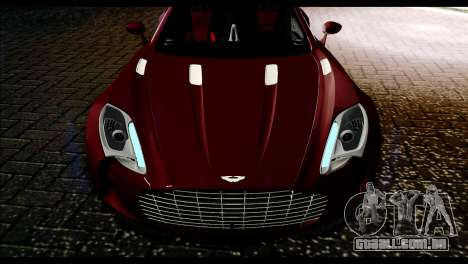 Aston Martin One-77 Black and Red para GTA San Andreas vista direita