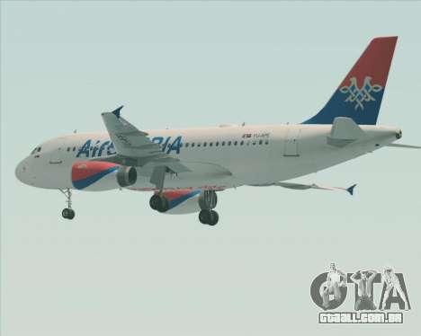 Airbus A319-100 Air Serbia para as rodas de GTA San Andreas
