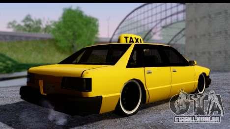 Slammed Taxi para GTA San Andreas esquerda vista