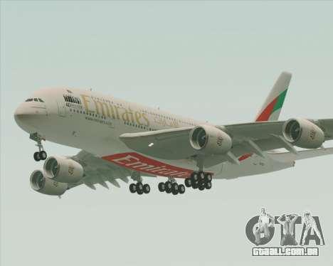 Airbus A380-800 Emirates 40 Anniversary Sticker para GTA San Andreas vista inferior