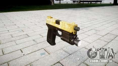 Pistola HK USP 45 de ouro para GTA 4