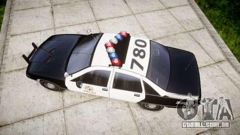 Chevrolet Caprice 1991 LAPD [ELS] Traffic para GTA 4 vista direita