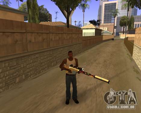 Graffity Weapons para GTA San Andreas segunda tela
