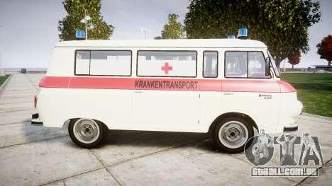 Barkas B1000 1961 Ambulance para GTA 4 esquerda vista