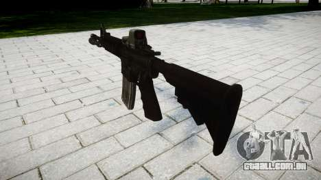 Tática rifle de assalto M4 Black Edition-alvo para GTA 4 segundo screenshot