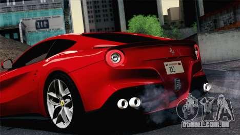 Ferrari F12 Berlinetta 2013 para GTA San Andreas vista direita