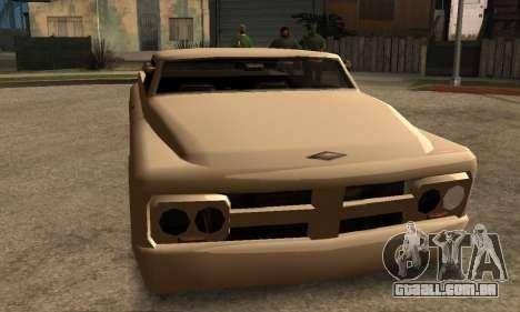 Beta Slamvan para GTA San Andreas esquerda vista