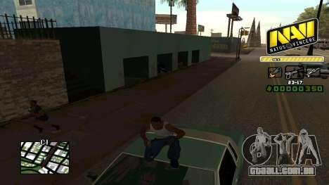 C-HUD NaVi para GTA San Andreas por diante tela
