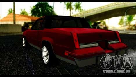 Oldsmobile Cutlass 1987 Beta para GTA San Andreas esquerda vista