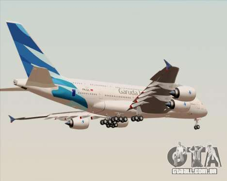 Airbus A380-800 Garuda Indonesia para GTA San Andreas vista inferior