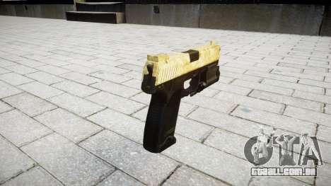 Pistola HK USP 45 de ouro para GTA 4 segundo screenshot