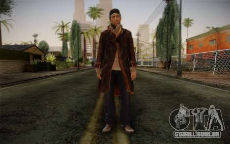 Aiden Pearce from Watch Dogs v12 para GTA San Andreas