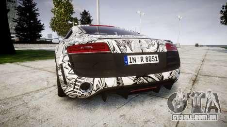 Audi R8 plus 2013 Wald rims Sharpie para GTA 4 traseira esquerda vista
