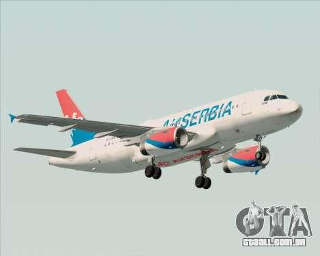 Airbus A319-100 Air Serbia para GTA San Andreas esquerda vista