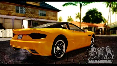 GTA 5 Hijak Khamelion para GTA San Andreas traseira esquerda vista