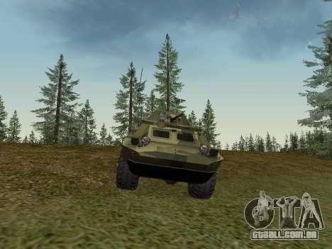 BRDM 2 para GTA San Andreas traseira esquerda vista