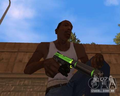 Chrome Green Weapon Pack para GTA San Andreas