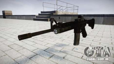 Tática rifle de assalto M4 Black Edition-alvo para GTA 4