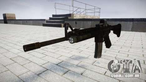 Tática rifle de assalto M4 Black Edition-alvo para GTA 4