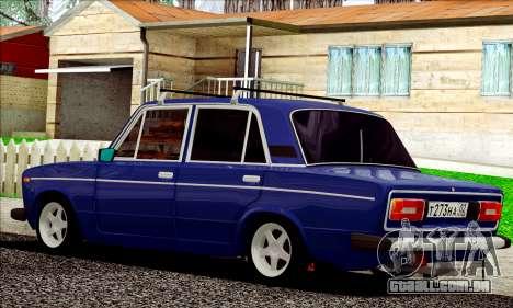 ВАЗ 2106 estilo russo para GTA San Andreas traseira esquerda vista