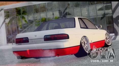 Nissan Silvia S13 Camber Style para GTA San Andreas esquerda vista