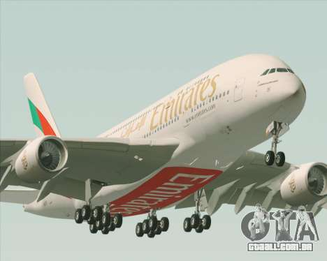 Airbus A380-800 Emirates 40 Anniversary Sticker para o motor de GTA San Andreas