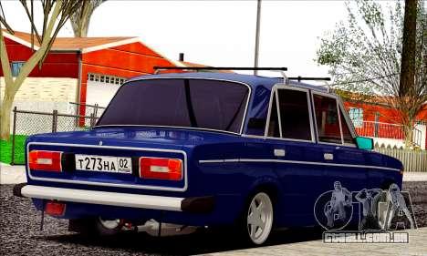 ВАЗ 2106 estilo russo para GTA San Andreas vista direita