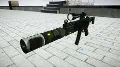 Tática submetralhadora MP5-alvo