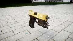 Pistola HK USP 45 de ouro