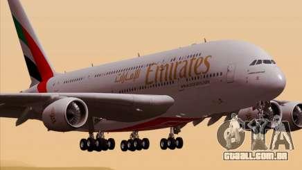 Airbus A380-800 Emirates 40 Anniversary Sticker para GTA San Andreas