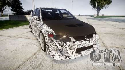 Mitsubishi Lancer Evolution IX Sharpie para GTA 4