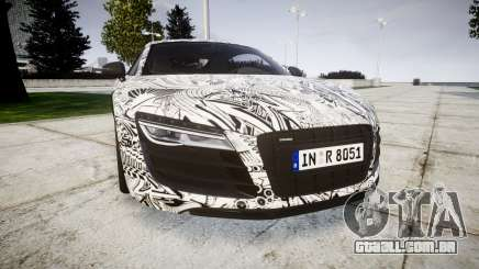 Audi R8 plus 2013 Wald rims Sharpie para GTA 4