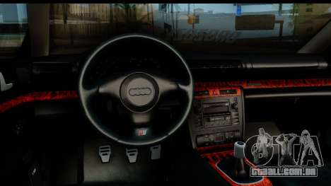Audi S4 B5 Avant para GTA San Andreas vista traseira