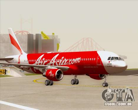 Airbus A320-200 Air Asia Japan para GTA San Andreas vista superior