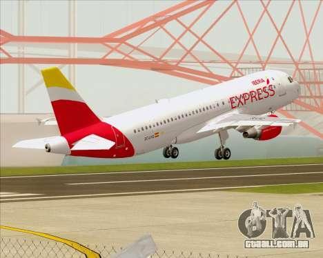 Airbus A320-200 Iberia Express para GTA San Andreas vista inferior