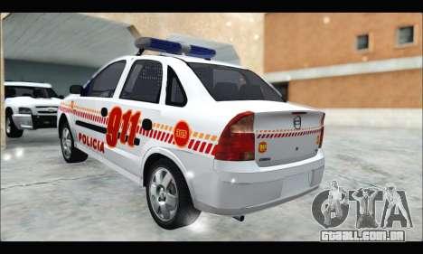 Chevrolet Corsa Premium Policia de Salta para GTA San Andreas esquerda vista