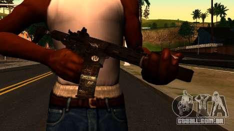 HoneyBadger from CoD Ghosts v2 para GTA San Andreas terceira tela