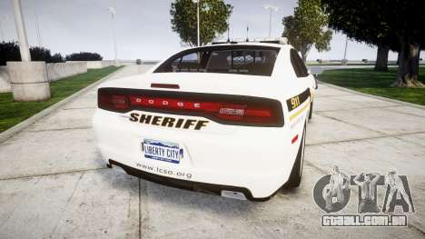 Dodge Charger 2013 Sheriff [ELS] v3.2 para GTA 4 traseira esquerda vista