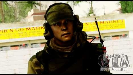 Engineer from Battlefield 4 para GTA San Andreas terceira tela