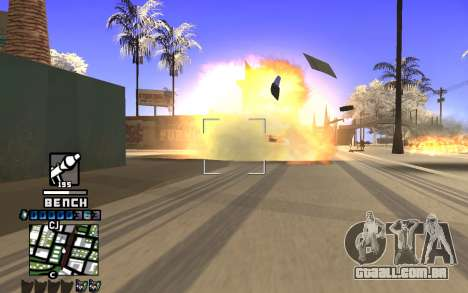 C-HUD Bench para GTA San Andreas terceira tela