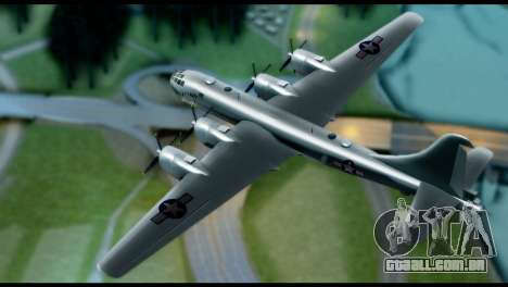 B-29 Superfortress para GTA San Andreas traseira esquerda vista