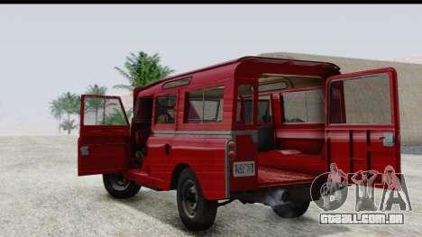 Land Rover Series IIa LWB Wagon 1962-1971 para GTA San Andreas vista interior