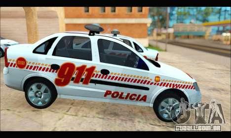 Chevrolet Corsa Premium Policia de Salta para GTA San Andreas vista direita