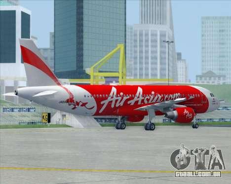 Airbus A320-200 Air Asia Japan para GTA San Andreas interior