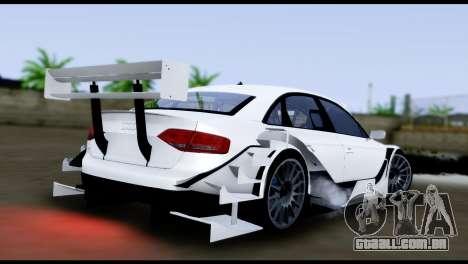 Audi A4 2008 Touring para GTA San Andreas esquerda vista