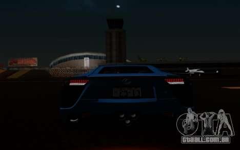 Lexus LF-A 2010 para GTA San Andreas vista inferior