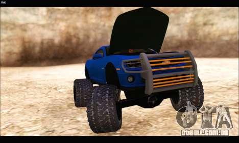 Chevrolet Camaro SUV Concept para GTA San Andreas vista interior