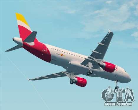 Airbus A320-200 Iberia Express para GTA San Andreas vista superior